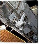 Astronaut Traverses Canvas Print