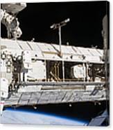 Astronauts Continue Maintenance Canvas Print