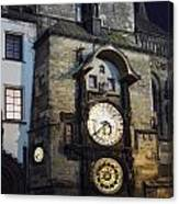 Astronomical Clock At Night Canvas Print