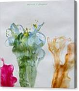 Asymetrical Flowers Canvas Print
