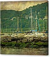 At Home In The Harbor - Atlantic Highlands  Nj Canvas Print
