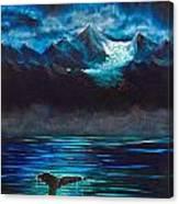 At Play Under The Glacier Canvas Print