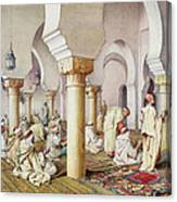 At Prayer In The Mosque Canvas Print