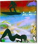 At Sea Gold Canvas Print