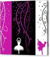 At The Ballet Triptych 2 Canvas Print