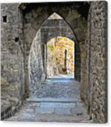 At The End Of The Passageway Canvas Print