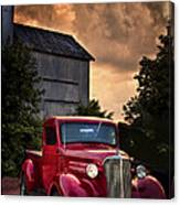 At The Grain Elevator Canvas Print