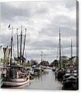 At The Old Harbor Canvas Print