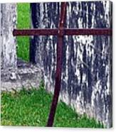 At The Old Rusty Cross Canvas Print