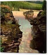 Athabasca Falls Evening Canvas Print