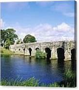 Athboy, Co Meath, Ireland Bridge Canvas Print