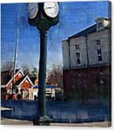 Athens Alabama City Clock Canvas Print