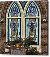 Athens Alabama First Presbyterian Church Stained Glass Window Canvas Print