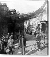 Athens Greece  C 1903 - Aeolos Street And The Stoa Of Hadrian Canvas Print