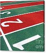 Athletic Track Markings With Numbers Canvas Print