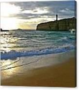 Atlantic Ocean Meets The Portugese Coast Canvas Print