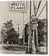 Atlantic White Flash Canvas Print