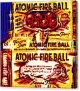 Atomic Fire Ball Canvas Print