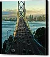 Atop Of San Francisco Bay Bridge Canvas Print