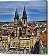 Atop The Clock Tower - Prague Canvas Print