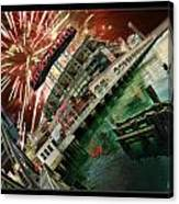 Att Park And Fire Works Canvas Print