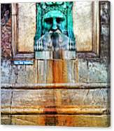 Au Non Potable A Fountain In Arles Canvas Print