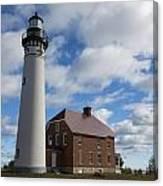 Au Sable Lighthouse 1 Canvas Print