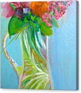 August Bouquet Canvas Print