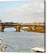 Augustus Bridge Dresden Germany Canvas Print