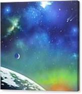 Auroa Borealis From Space Canvas Print