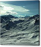 Austria Snow Mountain Canvas Print
