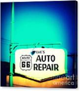 Auto Repair Sign On Route 66 Canvas Print