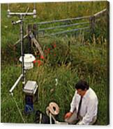 Automated Weather Monitoring Station Canvas Print