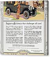 Automobile Ad, 1926 Canvas Print