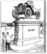 Automobile Cartoon, 1914 Canvas Print