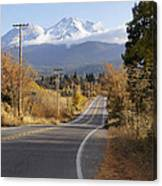 Autumn And Mt Shasta Down The Road Canvas Print