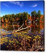 Autumn At Bomoseen Lake  Canvas Print