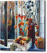 Autumn At The Kitchen Window Canvas Print