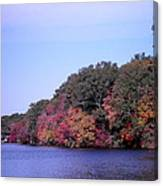 Autumn Colors On The Lake Canvas Print