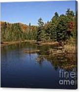 Autumn Day At The Lake In Algonquin Provincial Park Canvas Print