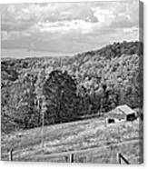 Autumn Farm 2 Monochrome Canvas Print