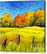 Autumn Farm Field Canvas Print