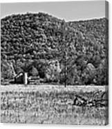 Autumn Farm Monochrome Canvas Print
