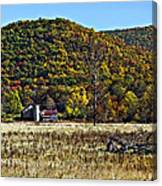 Autumn Farm Painted Canvas Print