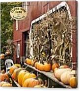 Autumn Farm Stand  Canvas Print