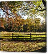 Autumn Field In Pennsylvania Canvas Print