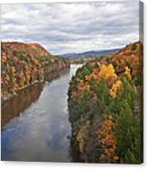 Autumn Foliage Scenery Viewed From French King Bridge Canvas Print