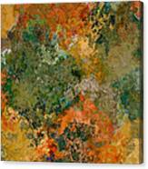 Autumn Forest Tree Tops Abstract Canvas Print