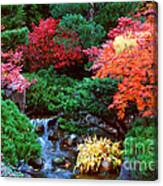Autumn Garden Waterfall II Canvas Print