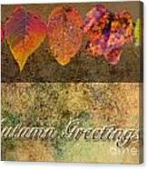 Autumn Greeting Card IIi Canvas Print